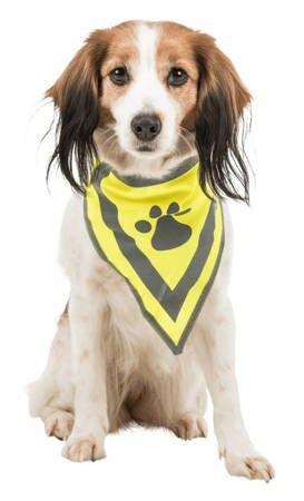 Bandana na szyję psa z odblaskiem - rozmiar S/M