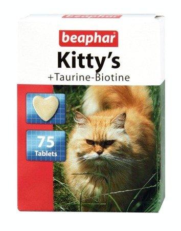 Beaphar Kitty's Taurine-Biotine przysmak dla kotów 75 sztuk