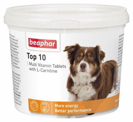 Beaphar Top 10 tabletki multiwitaminowe z karnityną dla psa 750 sztuk