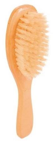 Drewniana szczotka z naturalnym, miękkim włosiem