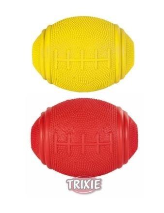 Gumowa zabawka, piłka do rugby - 8 cm