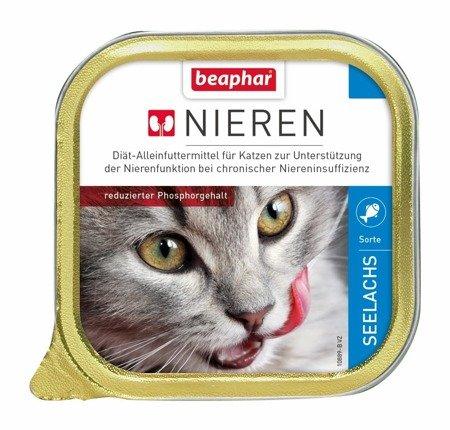 Karma dla kotów z niewydolnością nerek z Łososiem Nieren Seelachs 100g