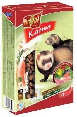 Karma podstawowa do żywienia tchórzofretek - 450 g