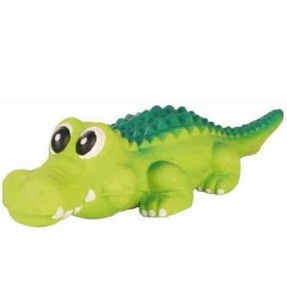 Krokodyl piszczący z lateksu - 35 cm
