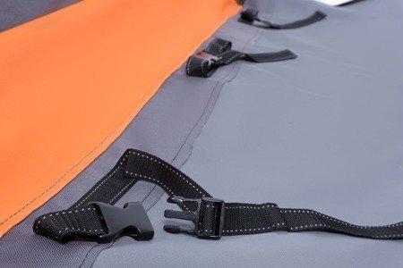 Mata samochodowa dla psa Activ z bokami, zamkiem i ochroną zagłówków S brązowo - zielona