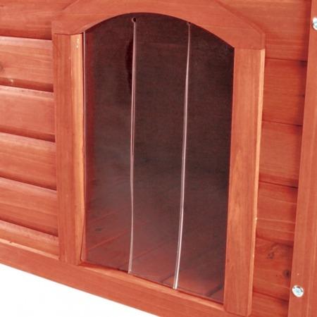 Plastikowe zabezpieczenie wejścia do budy z płaskim dachem - rozmiar S