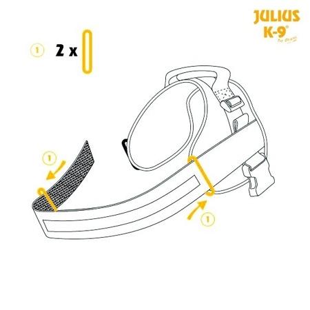 Podwójna torba do szelek Julius-K9® czarna