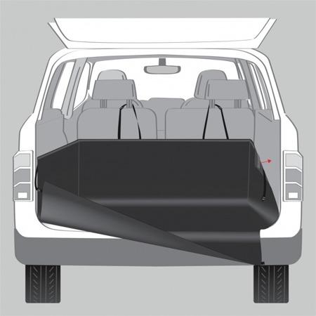 Prosta w montażu mata samochodowa z wysokimi bokami do bagażnika - 125x164 cm