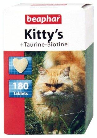 Przysmak witaminowy dla kota z tauryną i biotyną Kitty's Taurine-Biotine 180 tabletek