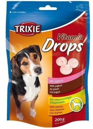 Trixie Dropsy jogurtowe z witaminami dla psa saszetka 200g