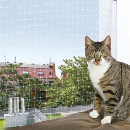 Siatka okienna do domu z kotami - 3x2 m - transparentna