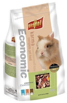 Pokarm w ekonomicznym opakowaniu dla królików - 1200 g