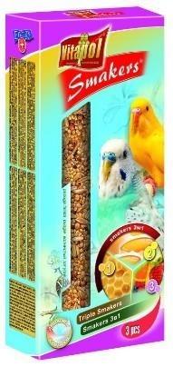 Zestaw kolb dla papużek falistych - jajeczna, miodowa, orzechowa - 3 sztuki